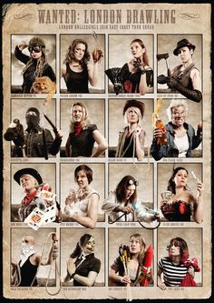 London Rollergirls posters. great team pic...