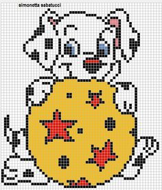 Dalmatian x-stitch
