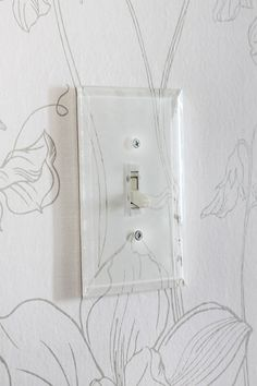 Beveled Glass Switch Plate via the Hunted Interior Switch Plate Covers, Light Switch Plates, Light Switch Covers, Hardware, Do It Yourself Home, Plates On Wall, Decoration, Home Accessories, Bathroom Accessories