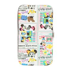 "<P>Minnie's style is front page news on this hardcase wallet. The wallet features a newsprint design of Minnie Mouse looking stylish. Inside there's space for ID and credit cards, plus a zippered pocket for change. Snap closure.</P><UL><LI>5 7/8""L x 3 3/8""H x 3/4""W<LI>Faux leather</LI></UL>"