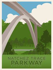 Natchez Trace Parkway - At the Northern end of the 444-mile Natchez Trace Parkway, a stunning $14 million dual concrete arch bridge crosses over Tennessee Highway 96. It is the longest concrete arch bridge in the United States, spanning 1648 feet and standing 155 feet high.