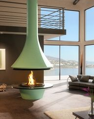 Super cool fireplace.