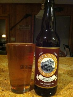 Berkshire Brewing Co. Steel Rail Extra Pale Ale...out of the 18 new beers I had on our trip, this was my least favorite. Not very good