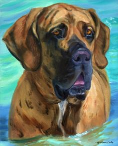 Fila Brasileiro Fine Art Giclee from my original oil painting. Fine Art  PaperDog ... 52ed2fbac8