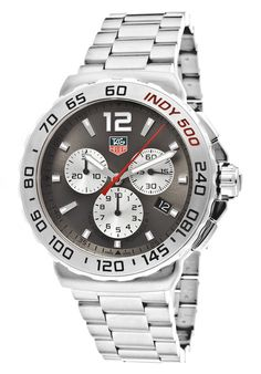 Price:$1239.00 #watches Tag Heuer CAU1113.BA0858, Sporting an intricate design and subdial system, this bold Tag Heuer chronograph is precise on time and measurement. Tag Heuer, Stainless Steel Watch, Chronograph, Mens Fashion, Watches, Formula 1, Accessories, Design, Moda Masculina
