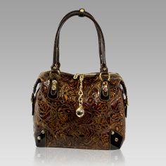 Marino Orlandi Designer Rose Embossed Leather Oversized Swarovski Bag ca8d8743f2488