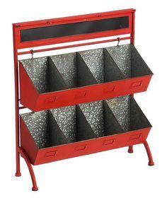 Look what I found on #zulily! Red Tiered Chalkboard Eight-Bin Storage Shelf #zulilyfinds http://www.zulily.com/invite/cgriffith6081.