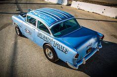This 1955 Chevrolet Gasser Will Take You Back. Chevy Ssr, 1955 Chevy, 1955 Chevrolet, Drag Cars, Drag Racing, Hot Cars, Custom Paint, Bobs, Trucks