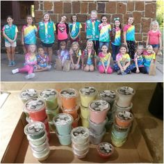 A proud gramma shares a Girl Scout Junior Bronze Award project. Riley made and sold slime to raise money for hurricane relief. Girl Scout Swap, Girl Scout Leader, Brownie Girl Scouts, Boy Scouts, Service Projects, Service Ideas, Bronze Award, Girl Scout Juniors, Girl Scout Crafts