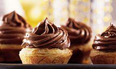 Tortinha-musse de chocolate