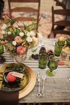 Fall alfresco table setting