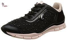 Geox Omaya A, Sneakers Basses Femme, Noir (C9999/Scam/Tess Ricam), 40 EU