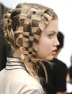 "Hairstylist Guido Palau's Most Architectural Designs In the idyllic Alexander McQueen spring/summer 2011 show, ""Earth Mother,"" models walked the runway as pagan goddesses, with cascading locks woven like straw baskets."