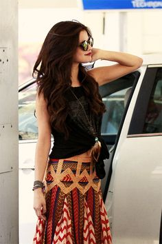 beautiful indie bohemian fashion photography | -fashion-glasses-look-selena-gomez-hair-hippie-indie-skirt-style ...
