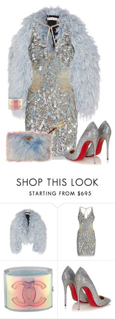 """""""Untitled #1605"""" by styledbyjovonxo ❤ liked on Polyvore featuring Francesco Scognamiglio, Jovani, Christian Louboutin and Prada"""