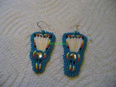 beaded Dance Fan earrings by DebsVisions on Etsy, $28.00