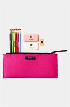 kate spade new york 'becca' pencil case available at Nordstrom - the only pencils I allow on my desk!