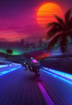 Artwork Heavily inspiredby Synthwave MusicAnd Retro Future Atmosphere. Synthwave Expresses Nostalgia from 1980s / 1990's Culture ( Music, Films, Video Games, Cartoon ). Content will be Constantly Updated.
