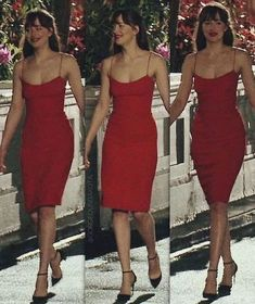 red sheath prom dress – classygown You are in the right place about REd dress flowy Here we offer you the most beautiful pictures about the REd Estilo Dakota Johnson, Dakota Johnson Style, Dakota Johnson Hair, Dress Outfits, Fashion Dresses, Dress Up, Cute Outfits, Red Dress Outfit, Dress Prom