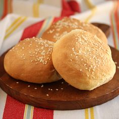 Homemade Sesame Seed Hamburger Buns
