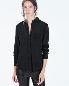 CHEMISE SOIE POCHE -Zara - 50 €