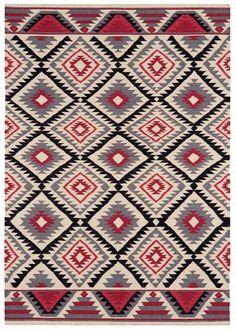Teppich modernes Design KELIM DIAMOND RUG Wolle