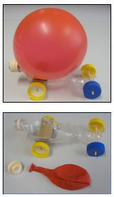 In this activity, students design and build a balloon-powered car to better understand the science ideas related to rocket propulsion. They use ideas of mass and force to work out ways to improve the distance travelled by their car. Primary Science, Stem Science, Science Experiments Kids, Physical Science, Science Fair, Science Lessons, Teaching Science, Science For Kids, Balloon Powered Car