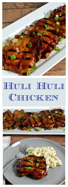 Huli Huli Chicken from CookingInStilettos is a mainland version of one of the classic Hawaiian recipes. Tender chicken is marinated in a homemade huli huli sauce and grilled to perfection for the most sweet and savory dishes that will have your guests asking for more | Hawaiian | Polynesian | Grilled Chicken Recipe | Easy Grill Recipes | Dinner Recipe