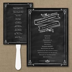 Wedding Program Fan / Personalized Fan Program / Wedding Fan / Chalkboard Wedding Wedding Sign Wedding Stationery Day of Stationery Wedding Program Fans, Wedding Fans, Ceremony Programs, Wedding Blog, Black And White Wedding Invitations, Traditional Wedding Invitations, Shabby Chic Wedding Decor, Vintage Shabby Chic, Chalkboard Wedding