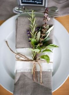 herb table setting