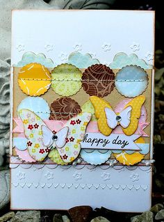 lots of layers and stitching - want to make one with me using the Everyday Enchantment Stampin' Up! Sale-a-Bration paper?  YUM!