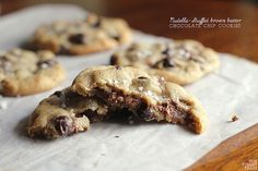 Nutella-Stuffed Chocolate Chip Cookies by clapanuelos, via Flickr