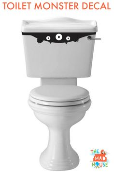 Fab free Toilet Monster for Halloween. 2 free sgv files for creating toilet monster decals for Halloween