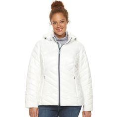 Plus Size Tek Gear® Hooded Packable Puffer Jacket