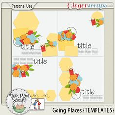 New GOING PLACES TwinMomScraps! Going Places Temps %35 off; http://store.gingerscraps.net/Going-Places-TEMPLATES.html. 23/08/2013