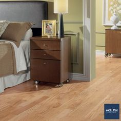 Prime Exotic Amendoim Hardwood Flooring shown in the Natural color | Available at Avalon Flooring | Starting at $8.99/square foot | #hardwoodflooring #woodflooring #exotichardwood #bedroomdesign