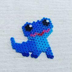 Motifs Perler, Iron Beads, Bead Crafts, Perler Beads, Dinosaur Stuffed Animal, Frozen, Toys, Disney, Animals