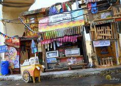 Philippine Urban Setting Series I scratchbuilt diorama of a street scene in a certain informal settlers (slum) area in Manila. Papercraft and other mix media. my papercraft, my Urban Setting, Slums, Mix Media, Manila, Filipino, Diorama, Modeling, Buildings, Scale
