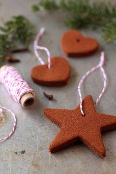 Homemade Cinnamon Ornaments.