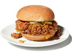 {lentil sloppy joes} homemade sloppy joes with a lentil-veggie-ground beef mixture.