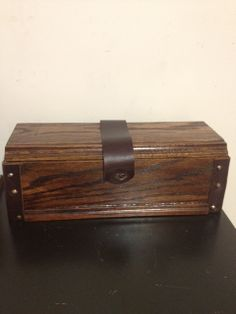 Hand crafted leather detailed wine box
