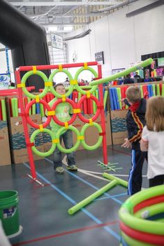 "Oodles of Fun with Pool Noodles. A ""how-to"" blog to create fun games for kids! #BLENDCentralMN"