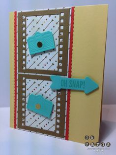 Stampin' Up!, Freshly Made Sketches 115, Hip Notes*, On Film Framelits*, Retro Fresh DSP*, Small Scallop Rotary Blade