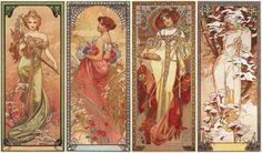 Les Saisons, 1900 I love Mucha