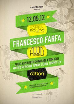 Farfasound Event at Cotton Club poster design