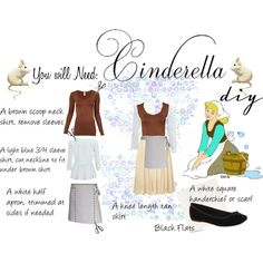 Cinderella Costume DIY by girlgamesh on Polyvore