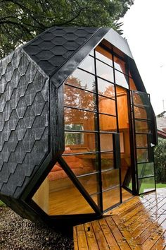 Polyhedron Space by Manuel Villa, architect from Bogota, Colombia, South America. I would love one of these in my backyard! Architecture Cool, Online Architecture, Wendy House, Compact House, Backyard Playhouse, Outdoor Playhouses, Frank Lloyd Wright, Play Houses, My Dream Home