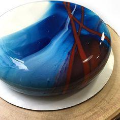 #vancouver  My type of painting   #moussecake #mirrorglaze #vancity #chefstalk…