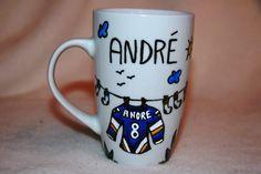 Pebeo Painting - Acadiens hockey - by Jeannie Lavallée