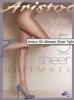 Aristoc 5 Denier Ultimate Sheer Tights - Bare Gold or Nude Colors - Many Sizes